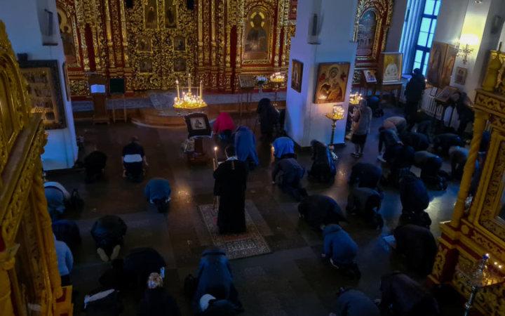 Второй день чтения Покаянного Великого канона святого Андрея Критского.
