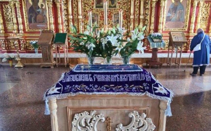 Настоятель храма Новомучеников протоиерей Валерий Рябоконь поздравил прихожан с праздником Успения Пресвятой Богородицы