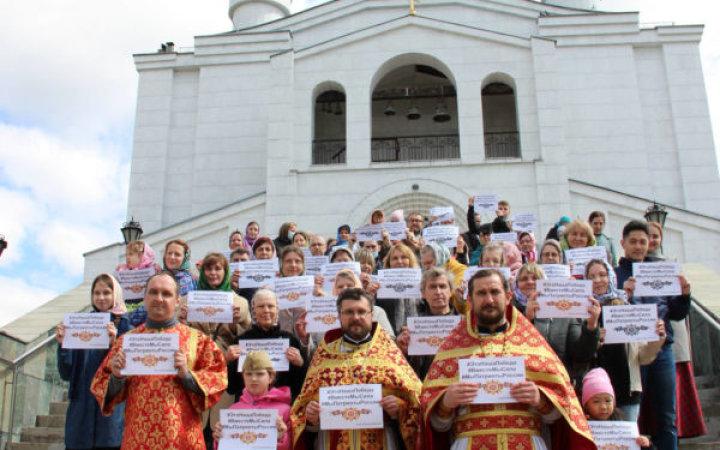 Приход храма Святых Новомучеников и Исповедников Церкви Русской принял участие в мероприятиях, посвящённых Дню Победы.