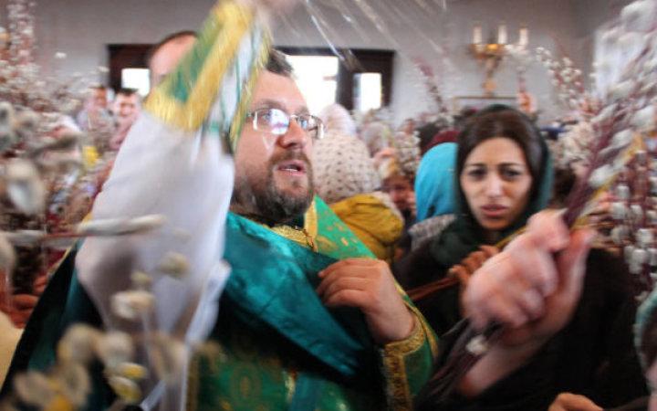 Празднование Входа Господня в Иерусалим в храме Святых Новомучеников и Исповедников Церкви Русской